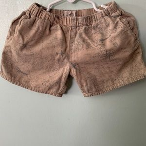 Peek shorts for boys with map design